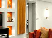 Гипсокартонная стена с дверью