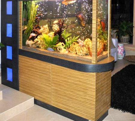 гипсокартон тумба аквариум