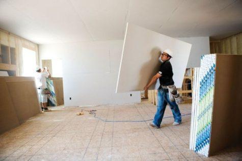 применение гипсокартона для отделки стен