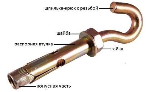 анкерный крюк для люстры