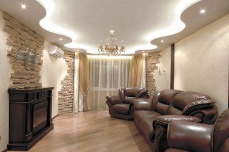дизайн гипсокартон потолок
