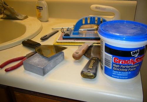инструменты и материалы для подготовки гипсокартона
