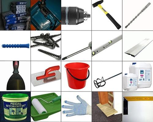 инструменты для гипсокартонных работ