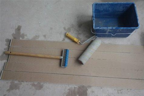 использование игольчатого валика для сгиба
