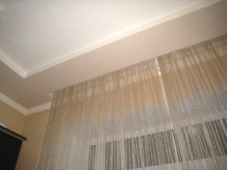карниз шторы гипсокартон
