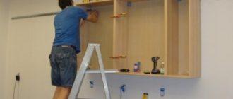 крепление шкафов к гипсокартону