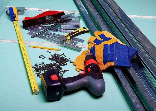 материалы и инструменты для гипсокартона