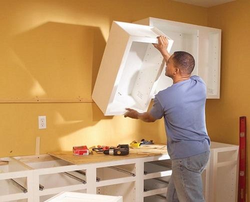 навеска шкафа на стену