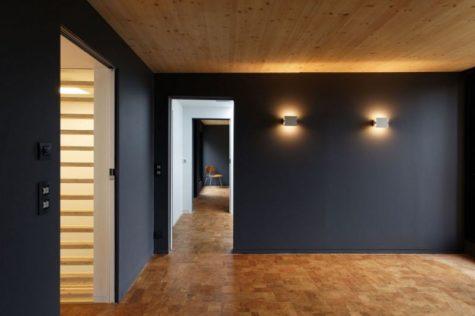 покрашенные стены из гипсокартона в доме