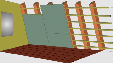 деревянный каркас для гипсокартона