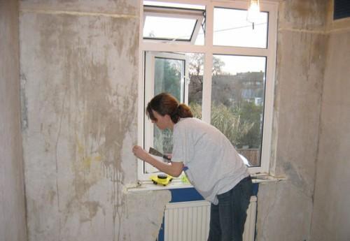 подготовка стены к приклеиванию гипсокартона