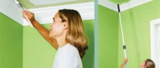 покраска гипсокартонного потолка