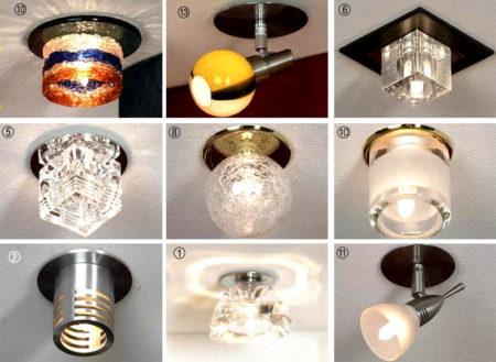 светильник потолок гипсокартон