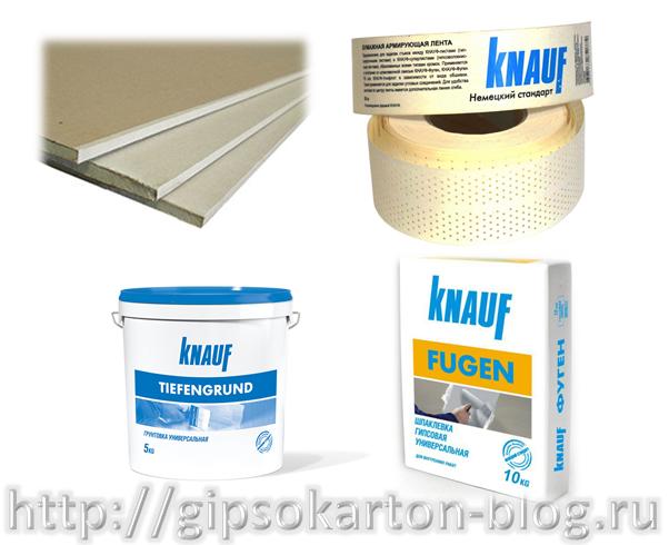 Материалы для монтажа гипсокартонного потолка