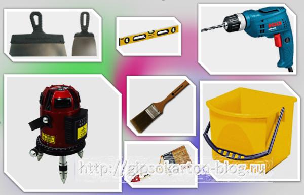 Набор необходимых инструментов для работы