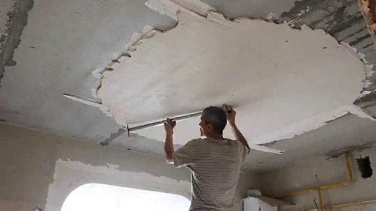 """Шпаклёвка """"Старт"""" на потолке"""
