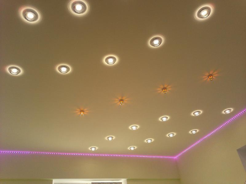 Группирование точечных светильников
