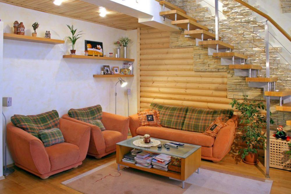 Применение ГКЛ в деревянном доме