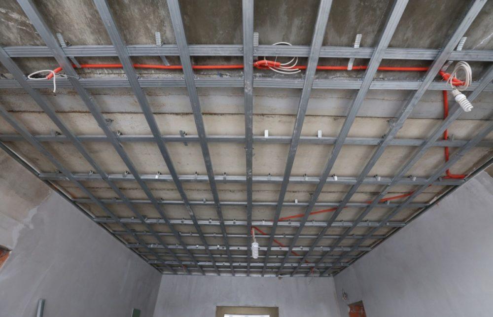 Проводка на потолке для гипсокартона