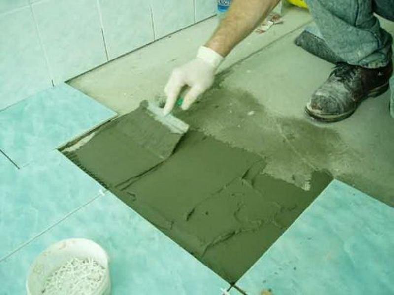 Плитка на пол в ванной комнате