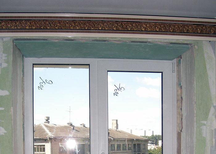 Приклеивание ГВЛ на откосы окна