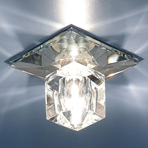 Точечный светильник включен на полную мощь