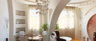 арка в гостинной