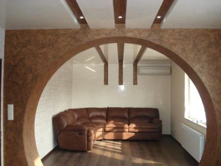арка гипсокартон зал