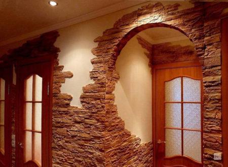 декоративный камень арка