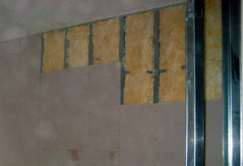 Каркасная основа на стенах для гипсокартона