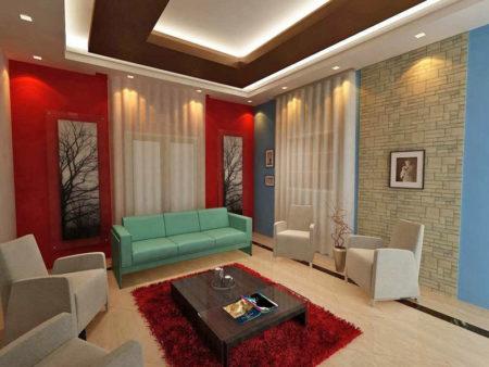 многоэтажный потолок комбинированный
