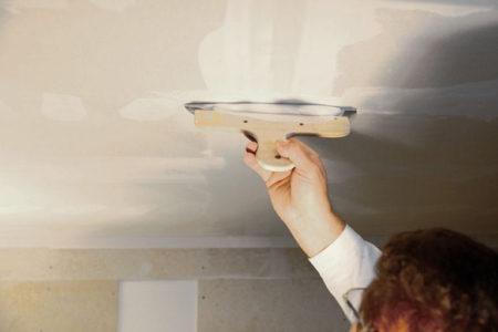 шпатлевка потолок