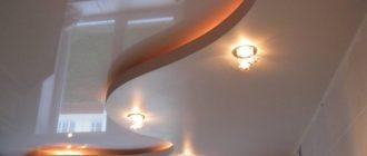 натяжной потолок и гипсократон