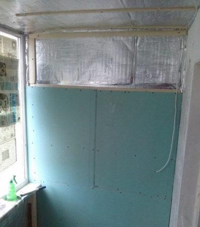 отделка стен гипсокартон