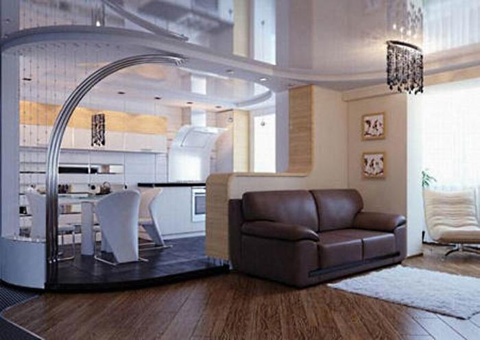 Перегородка кухня-гостиная из гипсокартона