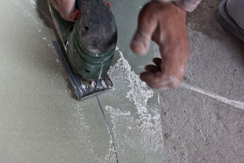 пыл при резке гипсокартона