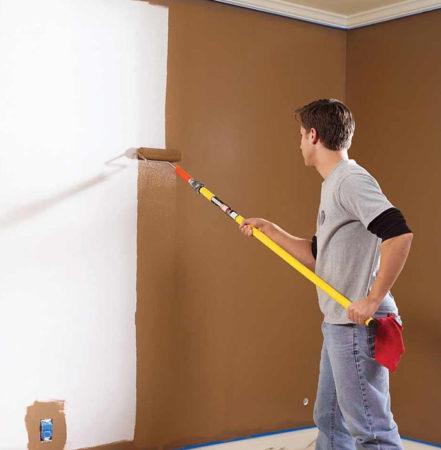 покраска стены гипсокартон