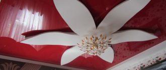 потолок в виде цветка