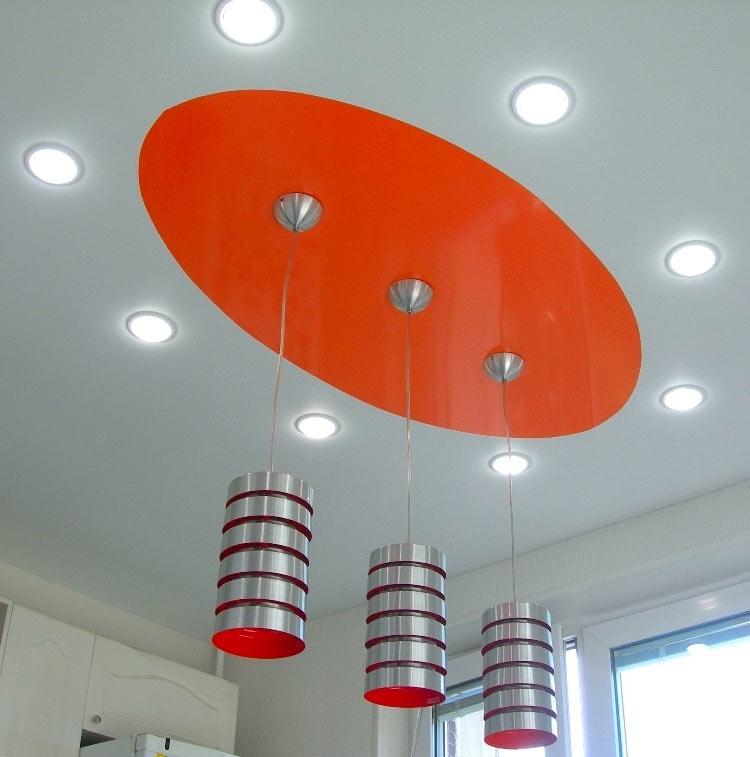 оформление потолок светильники