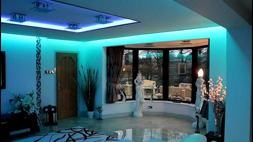 Подсветка в комнате из LЕD-ленты