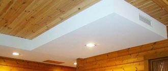 Отделка стен и потолка гипсокартоном в деревянном доме