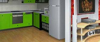 Установка перегородки из гипсокартона для разделения кухни и гостиной
