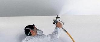 Окрашивание гипсокартонных потолков и стен водоэмульсионной краской