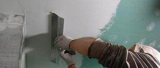 Нанесение шпаклевки на гипсокартонный потолок под покраску