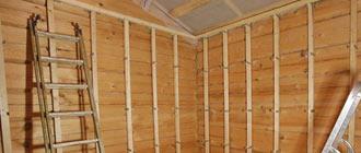 Способы внутренней отделки дома из бруса гипсокартоном