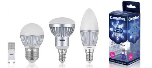 Виды ламп в светильник