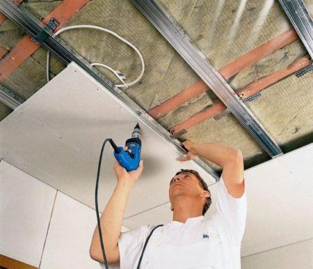 обшивка потолок