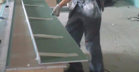 скрепление фрезерованного листа гипсокартона