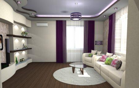 конструкция на потолке