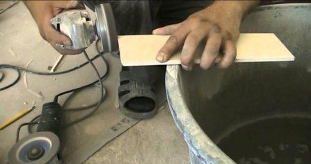 Обработка плитки